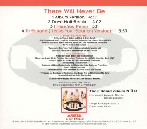 There Will Never Be [CD/Vinyl Single]