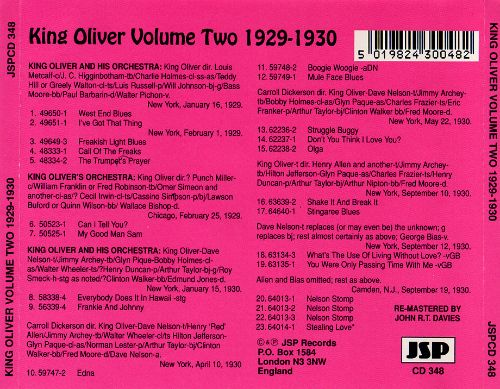 King Oliver & His Orchestra (1929-1930), Vol. 2
