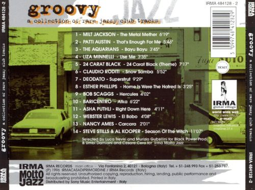 Groovy, Vol. 1: A Collection of Rare Jazzy Club Tracks