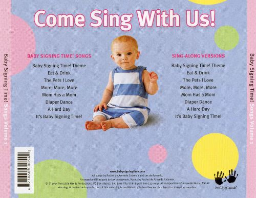 Baby Signing Time Songs Vol 1 Rachel Deazvedo Songs Reviews