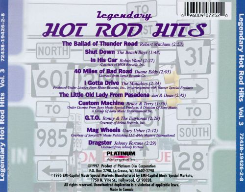 Legendary Hot Rod Hits, Vol. 3