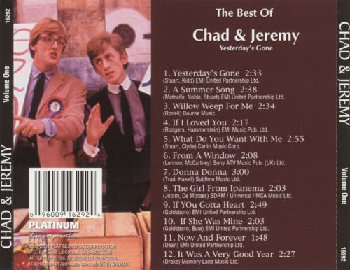 Best of Chad & Jeremy: Yesterday's Gone
