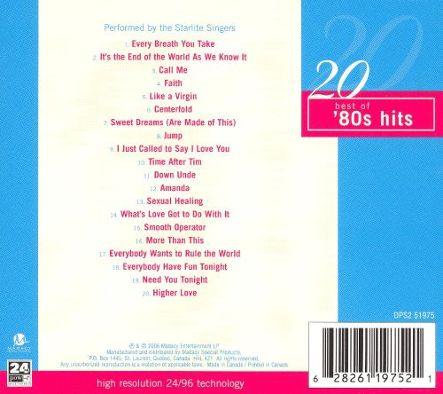 20 Best of 80's Hits