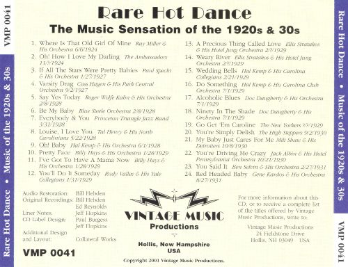 Rare Hot Dance: Music of the 1920s & 30s
