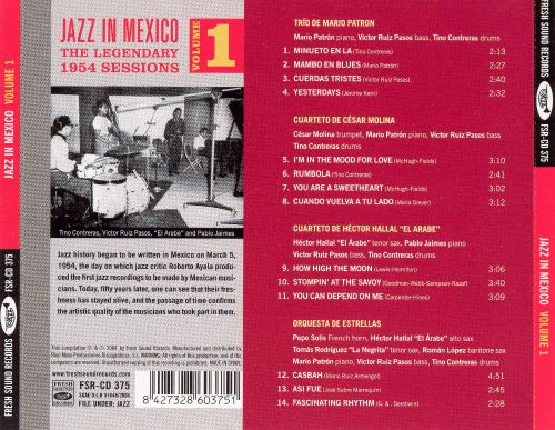 Jazz in Mexico, Vol. 1: Legendary 1954 Sessions
