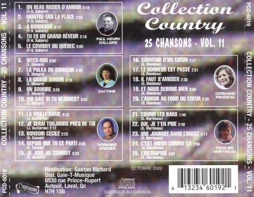 Collection Country: 25 Chansons, Vol. 11