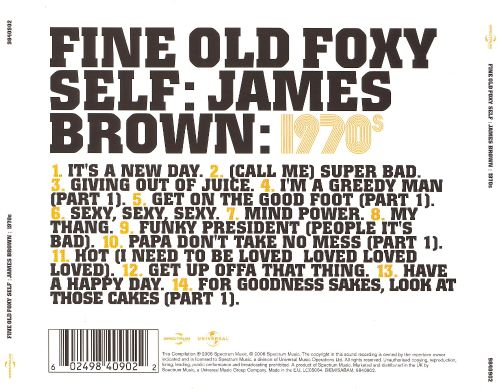 Fine Old Foxy Self: James Brown 1970s