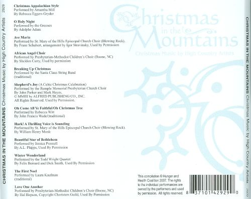 Christmas in the Mountains: Christmas Music by High Country Artists