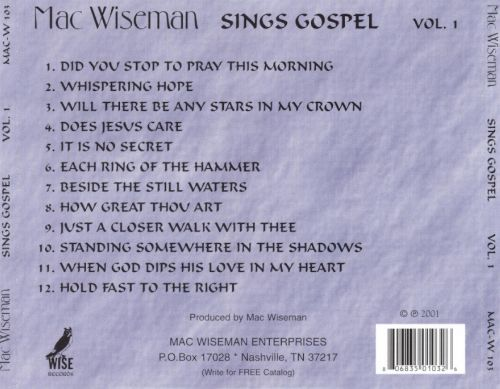 Sings Gospel, Vol. 1