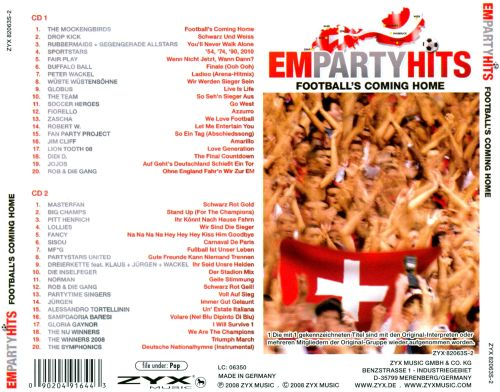 Em Party Hits: Football's Coming Home
