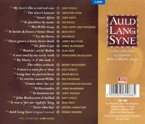 Auld Lang Syne: A Fine Selection of Popular Robert Burns Songs