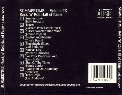 Summertime: Rock 'n' Roll Hall of Fame, Vol. 9
