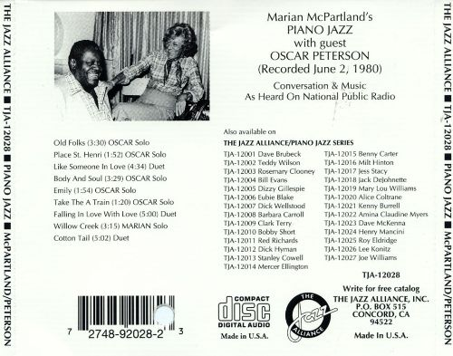 Marian McPartland's Piano Jazz with Guest Oscar Peterson