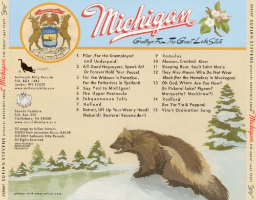 Greetings from michigan the great lake state sufjan stevens greetings from michigan the great lake state m4hsunfo