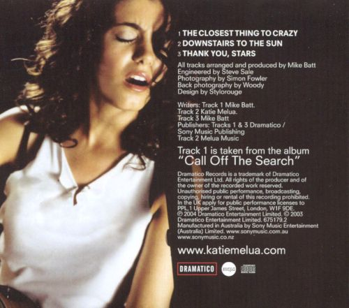 The Closest Thing to Crazy [CD Single]