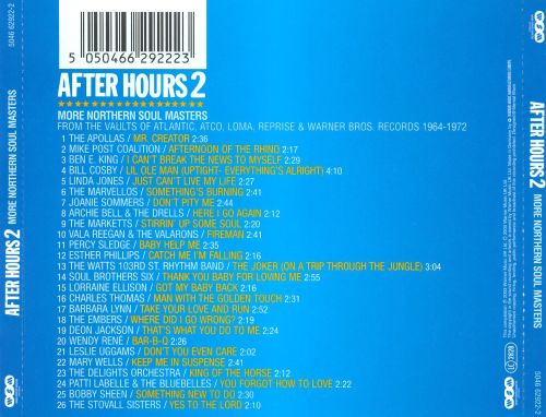 After Hours, Vol. 2: More Northern Soul Masters from the Vaults of Atlantic