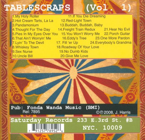 Tablescraps, Vol. 1