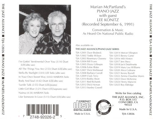 With Guest Lee Konitz