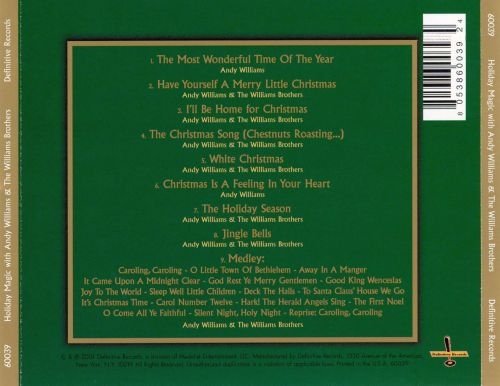 Holiday Magic with Andy Williams & the Williams Brothers - Andy ...