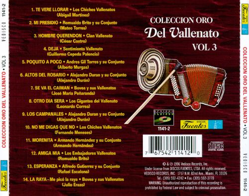 Coleccion Oro del Vallenato, Vol. 3