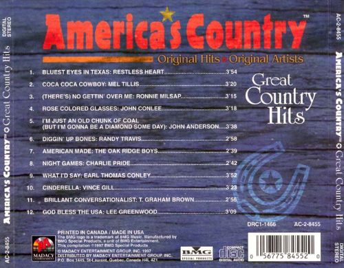 Great Country Hits [Madacy]