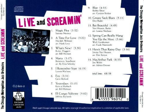 Live and Screamin'