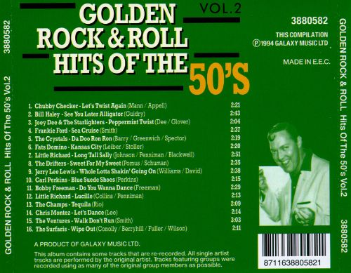Golden Rock & Roll Hits of the 50's, Vol. 2
