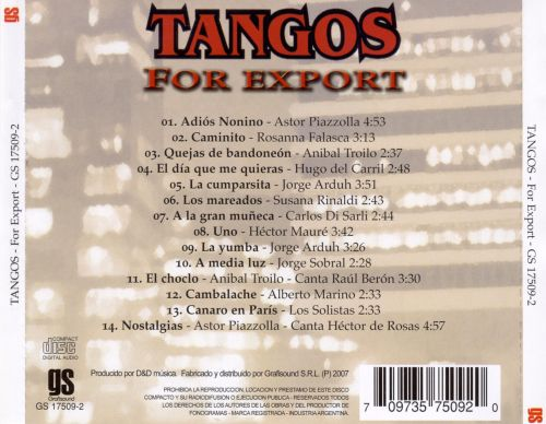Tangos - For Export