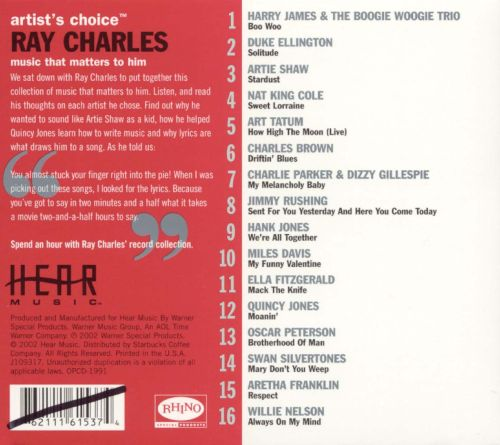 Artist's Choice: Ray Charles
