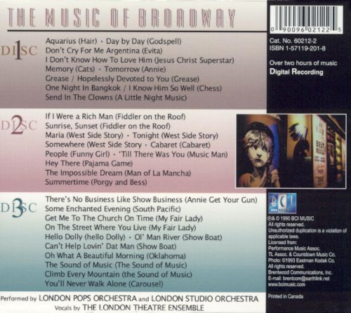 The Music of Broadway, Vol. 1-3