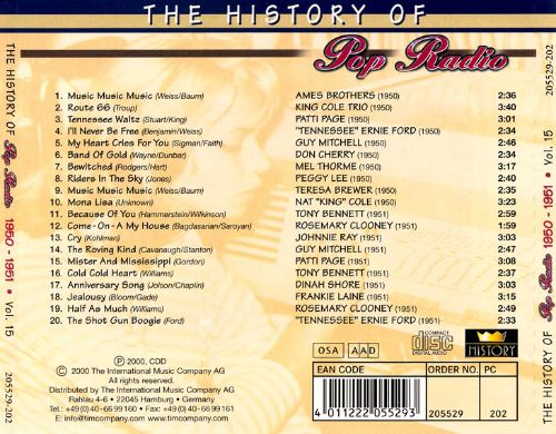 History of Pop Radio, Vol. 15: 1950-1951[OSA/Radio History]
