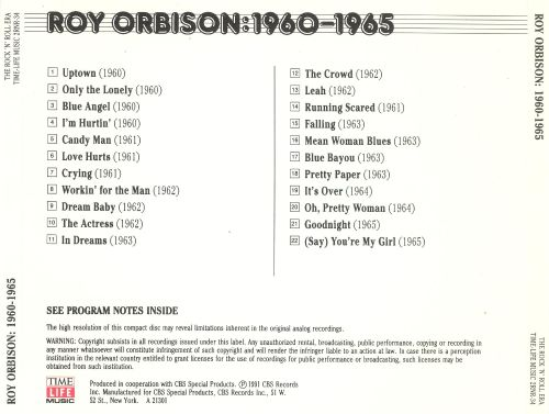 The Rock 'N' Roll Era: Roy Orbison 1960-1965
