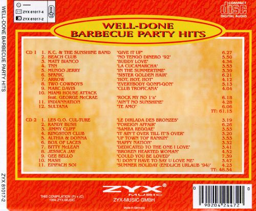 Well Done Barbecue Party Hits