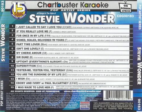 Chartbuster Karaoke: Stevie Wonder