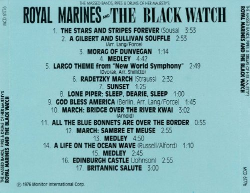 The Massed Bands, Pipes & Drums of Her Majesty's Royal Marines and the Black Watch