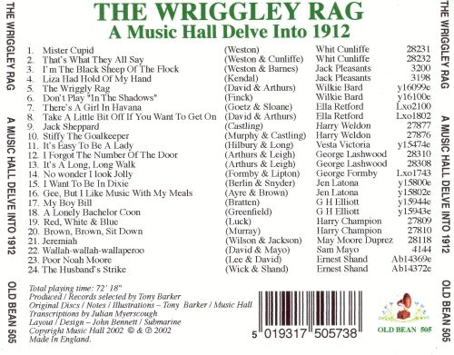 The Wriggley Rag: A Musical Delve into 1912