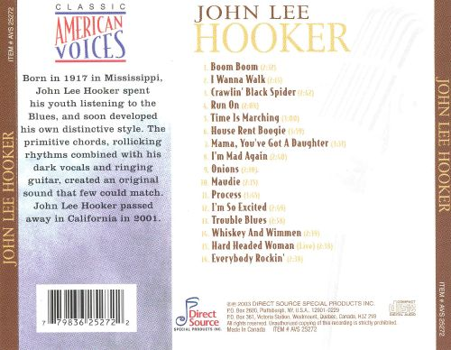 Classic American Voices - John Lee Hooker | Songs, Reviews, Credits ...