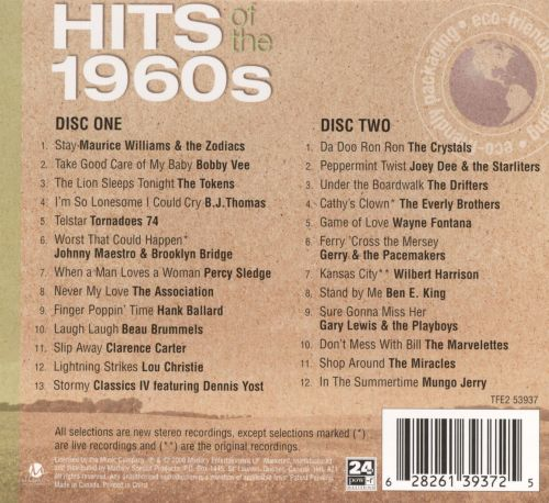 25 Best: Hits of the 1960's - Various Artists   Songs ...
