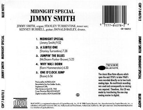 Midnight Special - Jimmy Smith | Songs, Reviews, Credits | AllMusic