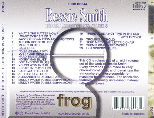 Complete Recordings, Vol. 5 [Frog]
