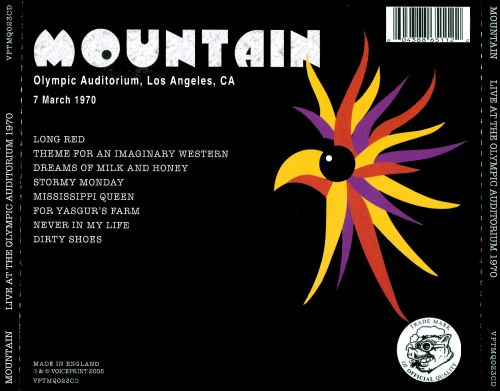 Official Live Mountain Bootleg Series, Vol. 12: Olympic Auditorium Los Angeles, 7 March 1980