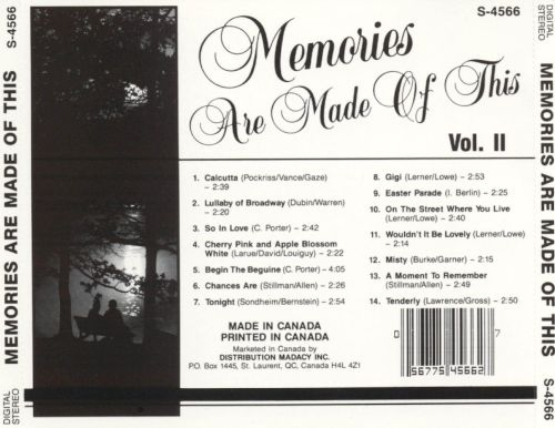 Memories Are Made of This, Vol. 2 [Madacy]