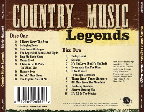 Country Music Legends [Cbuj Ent]