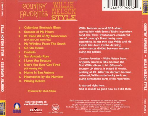 Country Favorites, Willie Nelson Style