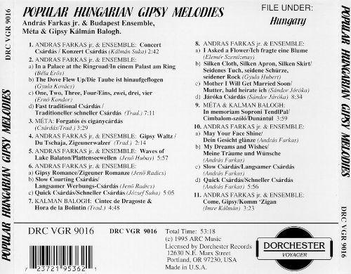 Popular Hungarian Gipsy Melodies