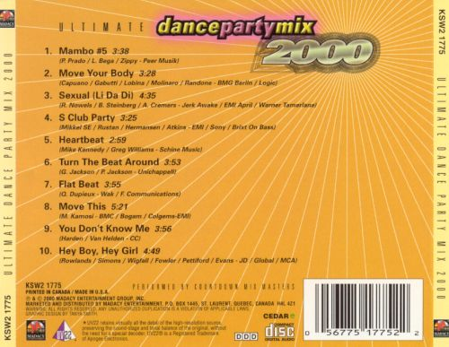 Ultimate Dance Party Mix 2000, Vol. 2