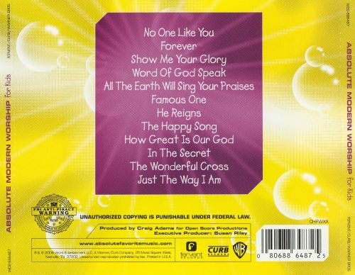 Absolute Modern Worship for Kids: Yellow