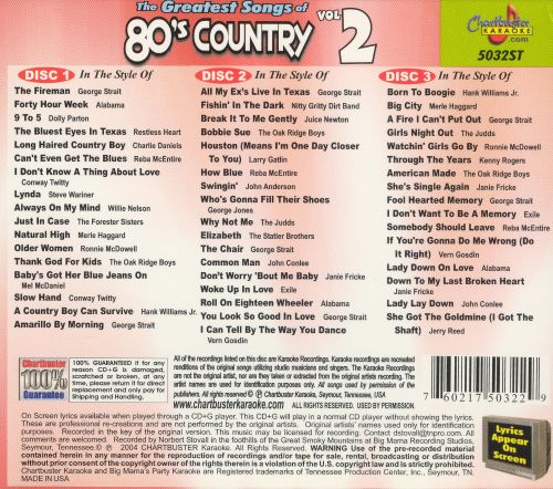 The Greatest Songs of 80's Country, Vol. 2