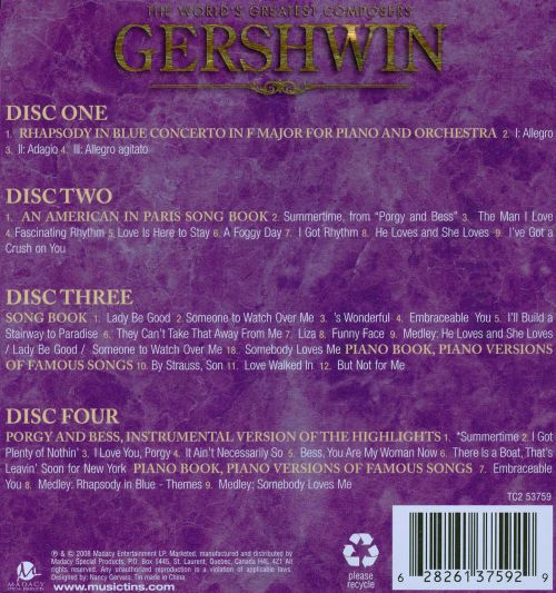The Great Composers of the World: Gershwin