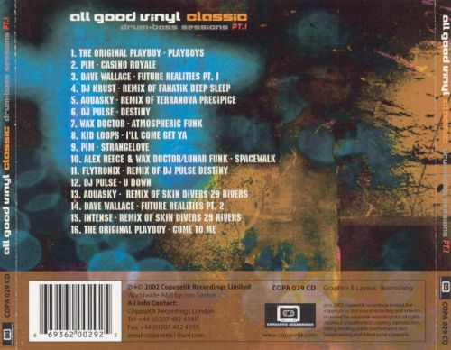 All Good Vinyl: Classic Drum & Bass Sessions, Pt. 1